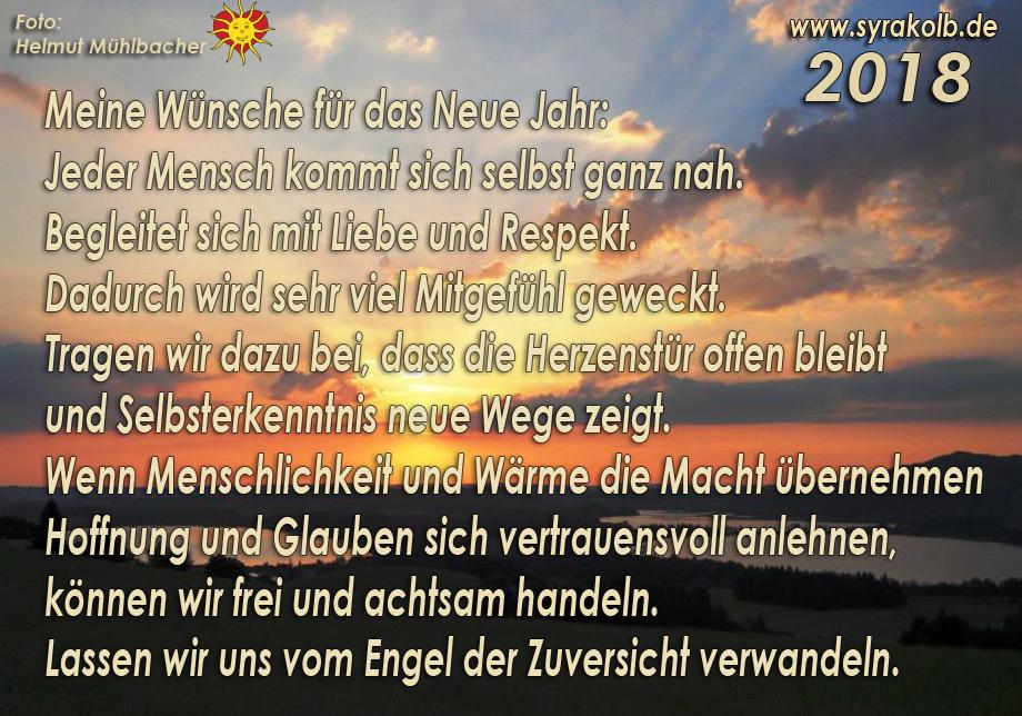 Frohes Neues Jahr und alles Liebe … ganz dankbare Grüße | Syra Kolb ...